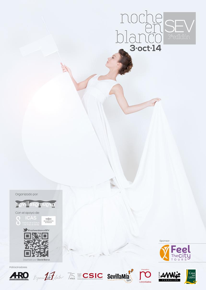 Cartel Noche en Blanco 2014