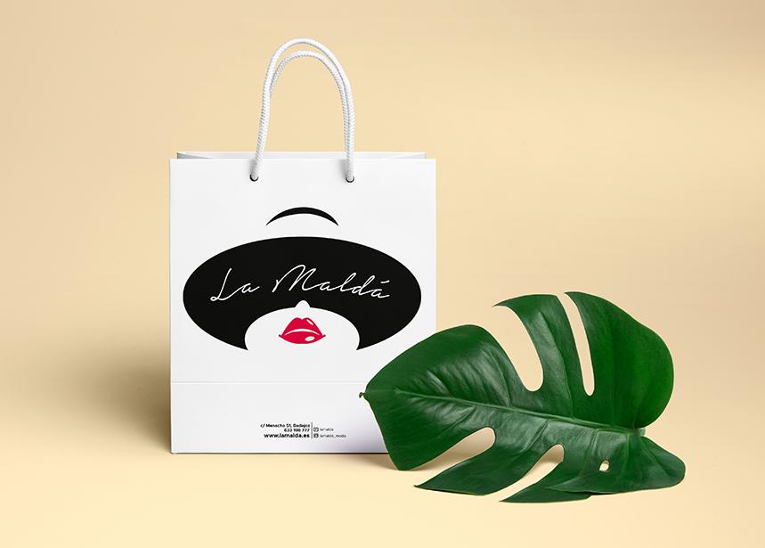 Bolsa de Paper Kraft para tienda de moda La Maldá